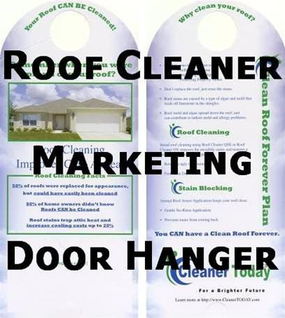 Alternative Views  sc 1 st  Cleaner Today & Roof Cleaning Marketing materials - Door Hanger